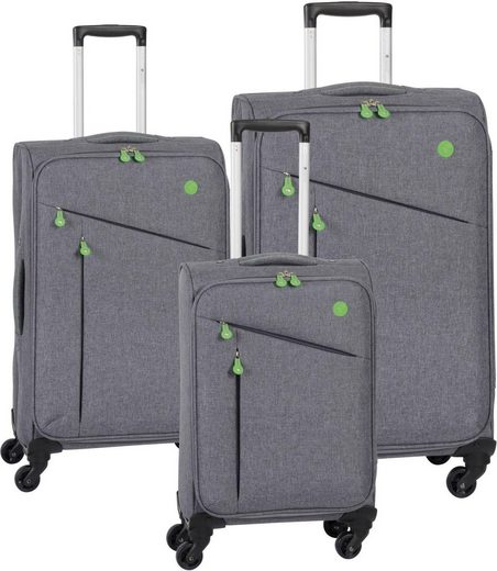 CHECK.IN® Trolleyset »Lissabon«, 4 Rollen, (Set, 3 tlg)