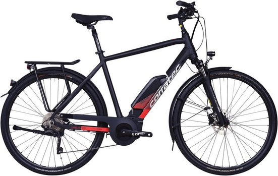 corratec E-Bike »E-Power 28 Active 10s Wave 500W«, 10 Gang Shimano T8000 Deore XT Schaltwerk, Kettenschaltung, Mittelmotor 250 W