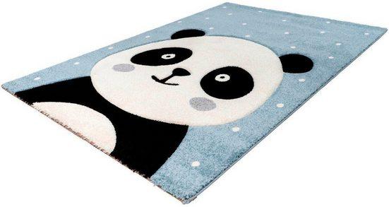 Kinderteppich »Amigo 322«, LALEE, rechteckig, Höhe 15 mm, Panda Bär Motiv