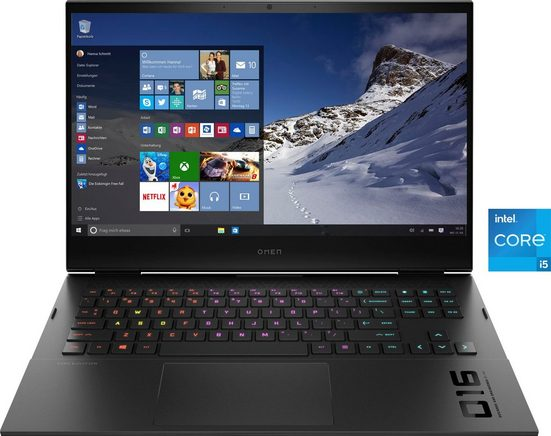 HP 16-d0254ng Gaming-Notebook (40,9 cm/16,1 Zoll, Intel Core i5, GeForce RTX™ 3050 Ti, 512 GB SSD, Kostenloses Upgrade auf Windows 11, sobald verfügbar)