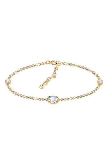 Elli Armband »Erbskette Basic Kristalle 925 Silber«