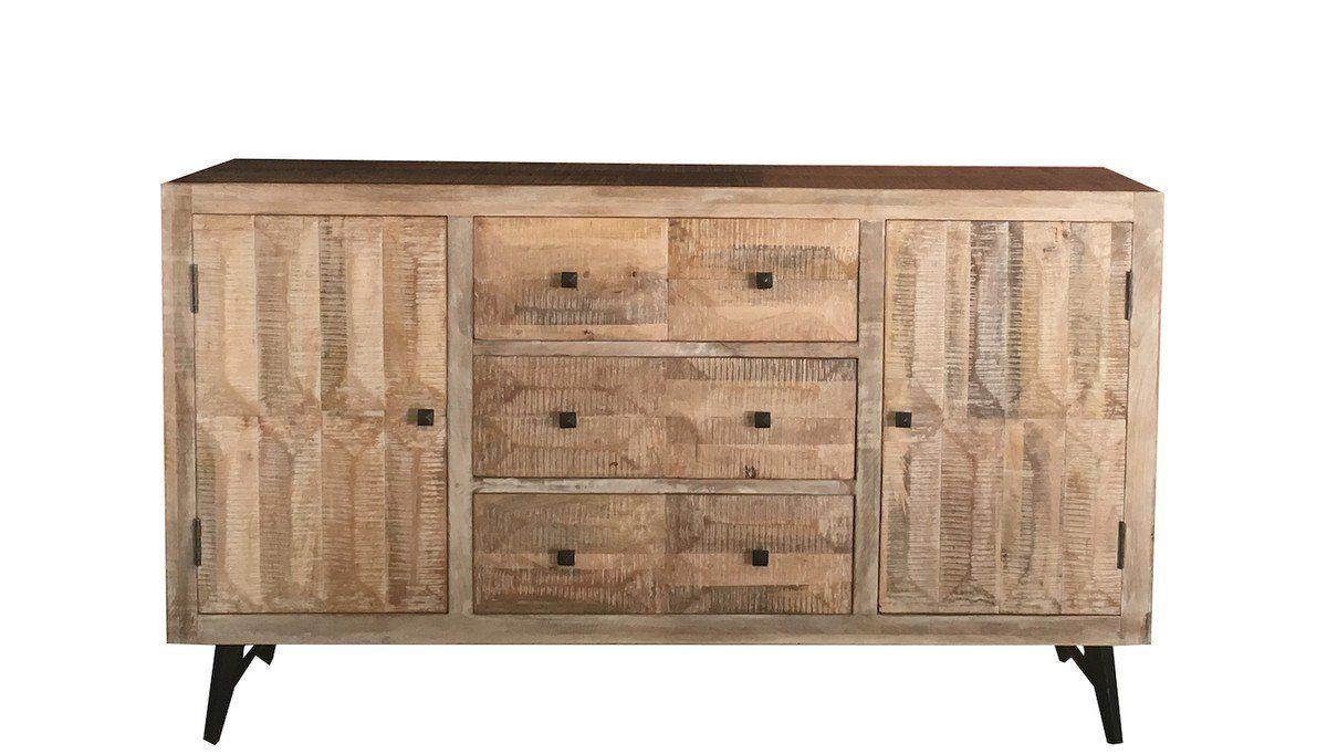 KAWOLA Sideboard groß aus Mangoholz »ELSA«