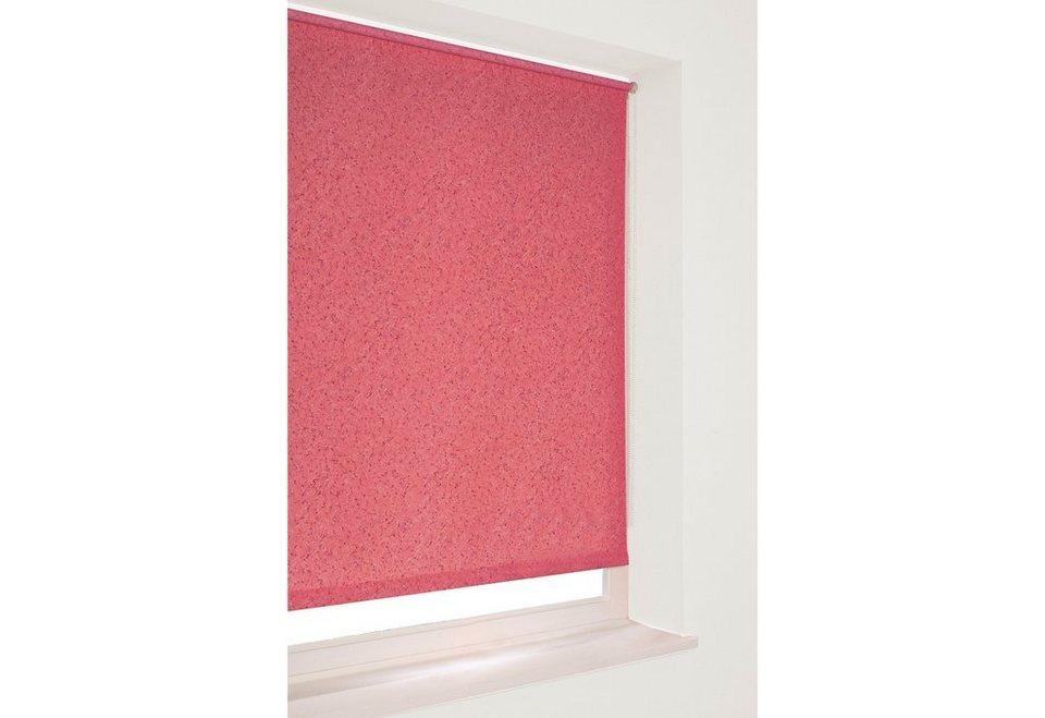Seitenzugrollo im Fixmaß, Sunlines, »Uni« (1 Stück) in marmor burgund