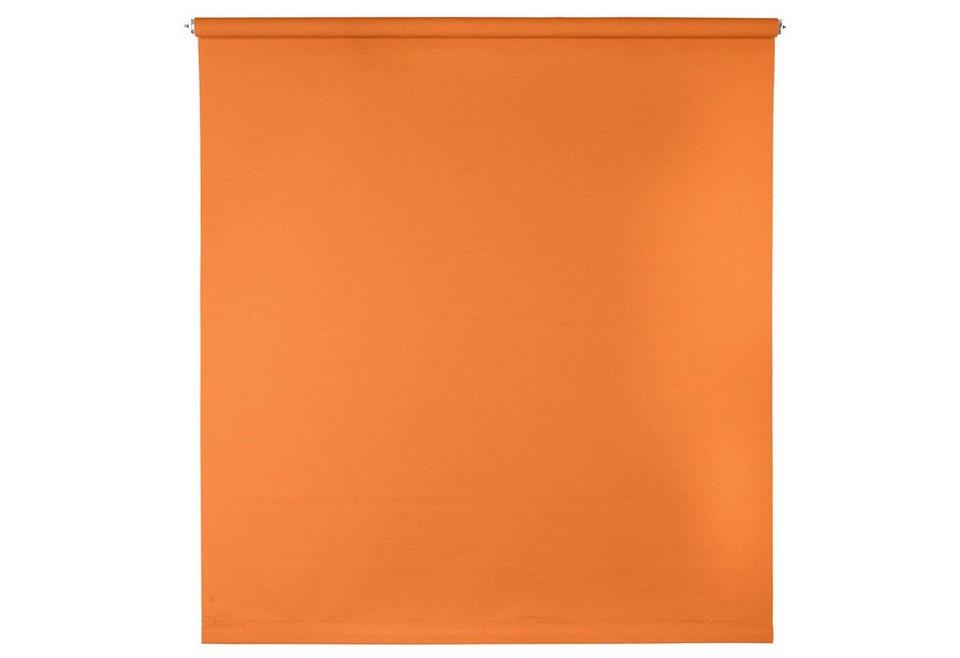 Springrollo, Sunlines, »Uni«, im Festmaß, Verdunkelung/Energiesparend (1 Stck.) in mandarine