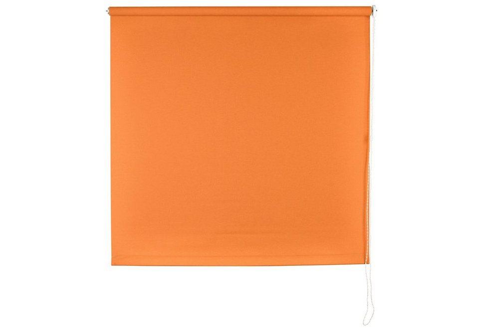 Seitenzugrollo im Fixmaß, Sunlines, »Uni« (1 Stück) in mandarine