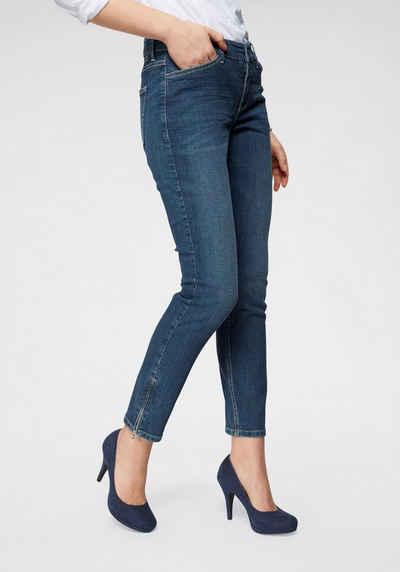 f1caf9a897e869 MAC Ankle-Jeans »Slim Chic« Neue Form mit Reißverschluss am Saum