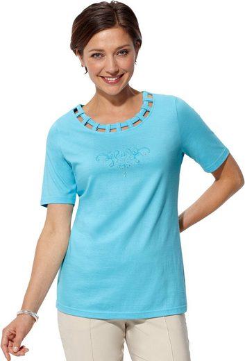 Classic Basics Shirt mit farbharmonischer Stickerei