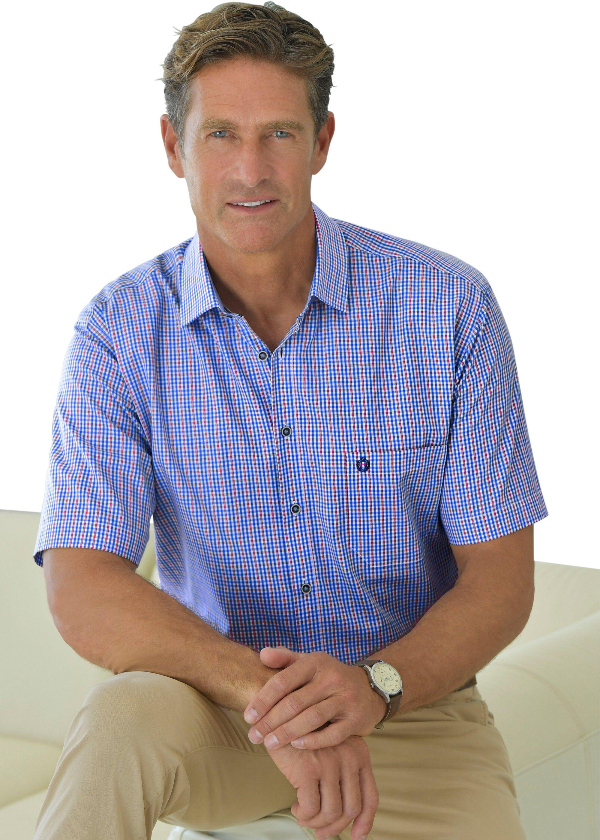 Hatico Kurzarm-Hemd im garngefärbten Karo-Muster