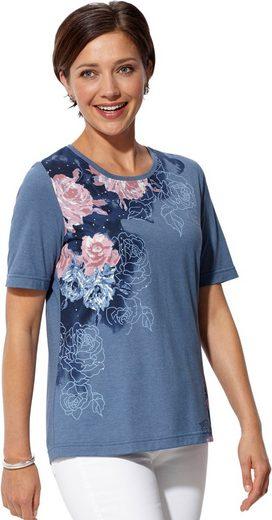 Classic Basics Shirt mit Blüten-Druck