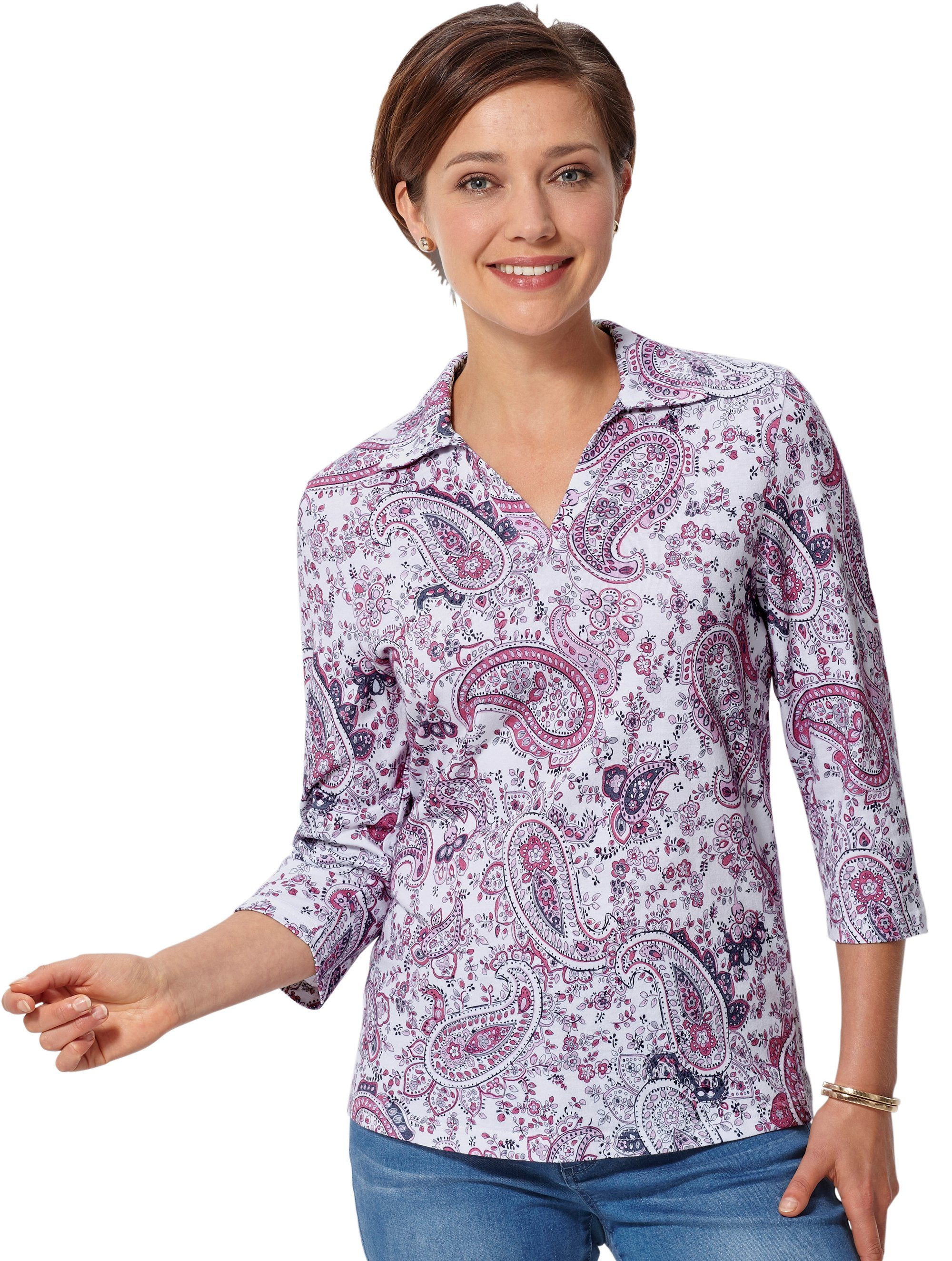 Classic Basics Poloshirt in trageangenehmer Single-Jersey-Qualitä