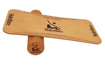 RollerBone Balanceboard »RollerBone Starter Set Balance-Brett mit Rolle«, nachhaltiges Material aus Ahorn Holz & Kork
