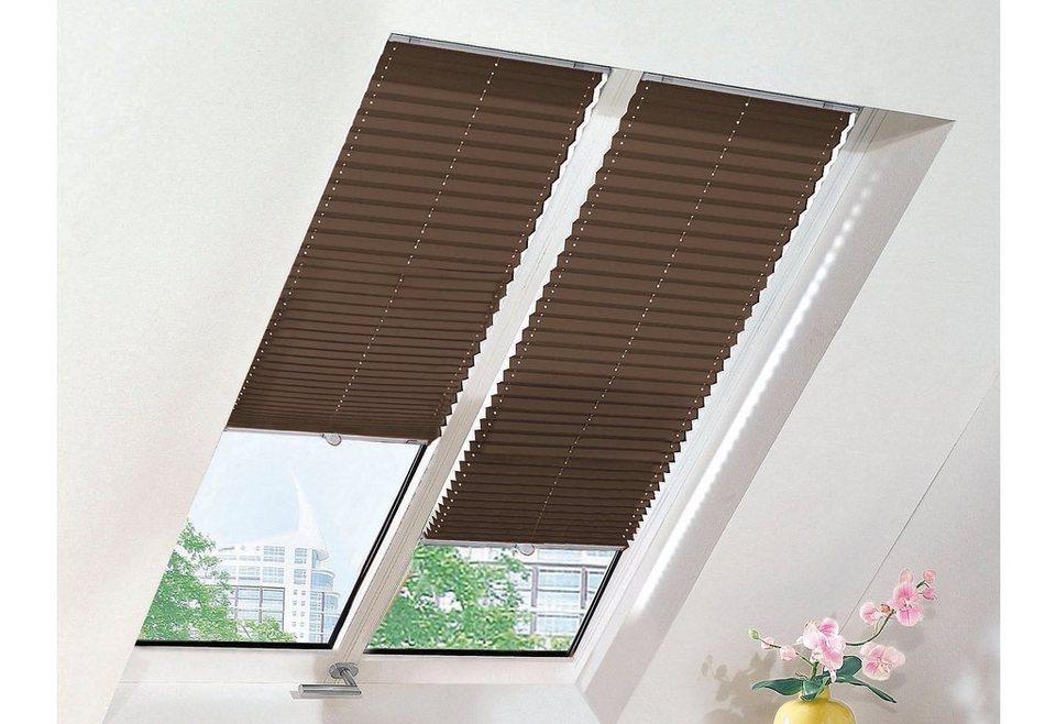 Dachfenster-Plissee, Sunlines, Wunschmaß, Perlreflex in mokka