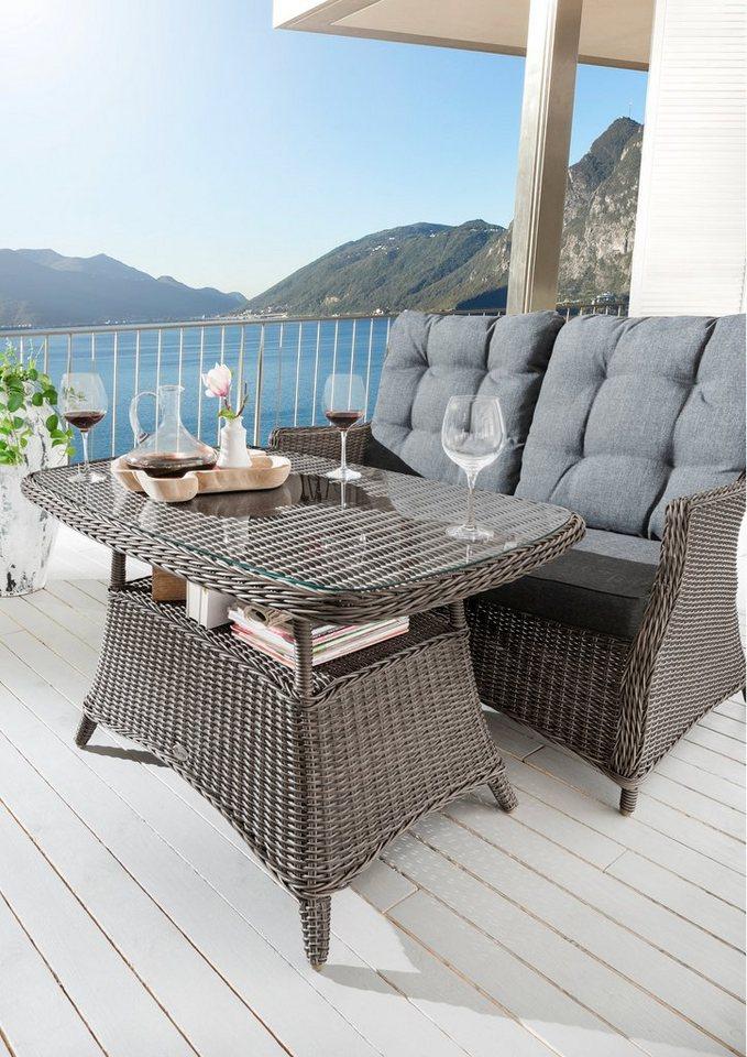 Destiny Gartentisch Casa Polyrattan 80x120 Cm Grau Online