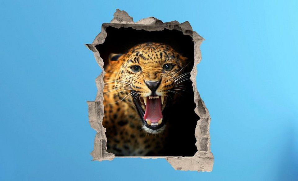 3D Wandtattoo Eye of the Tiger selbstklebend