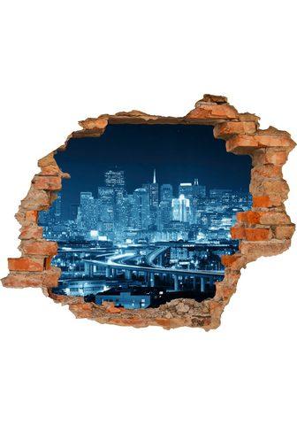 CONNI OBERKIRCHER´S 3D-Wandtattoo »Blue City« selbstkleben...