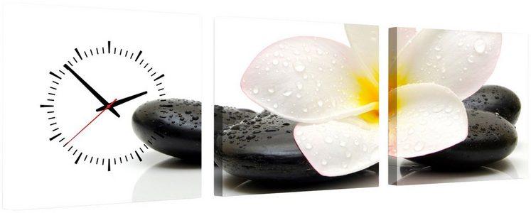 Komplett-Set: Leinwand »Black & White«, mit dekorativer Uhr
