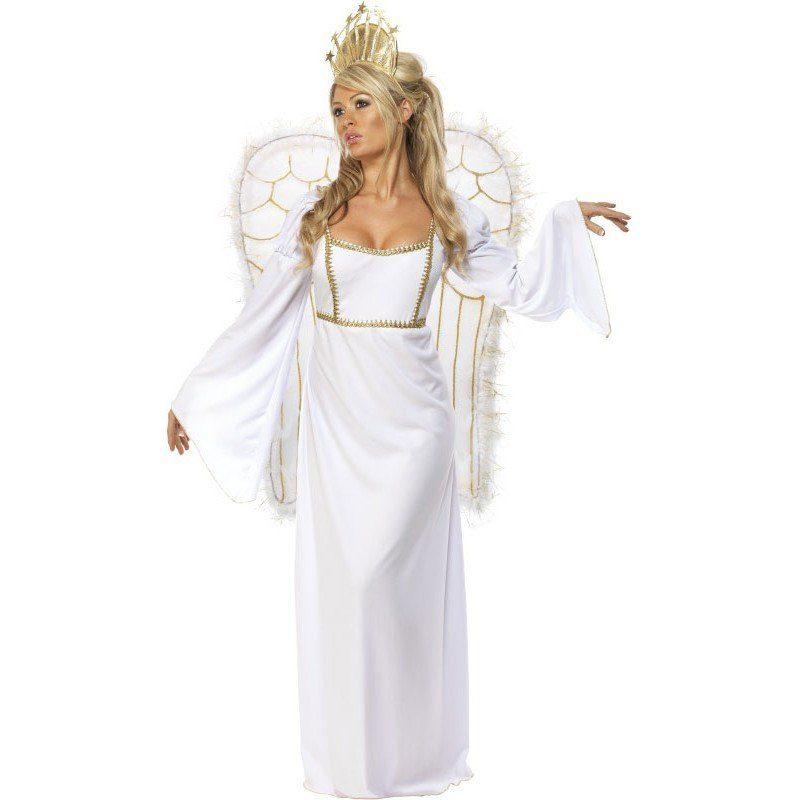 Unisex Weihnachtsengel Kostüm Deluxe weiß | 05020570312896