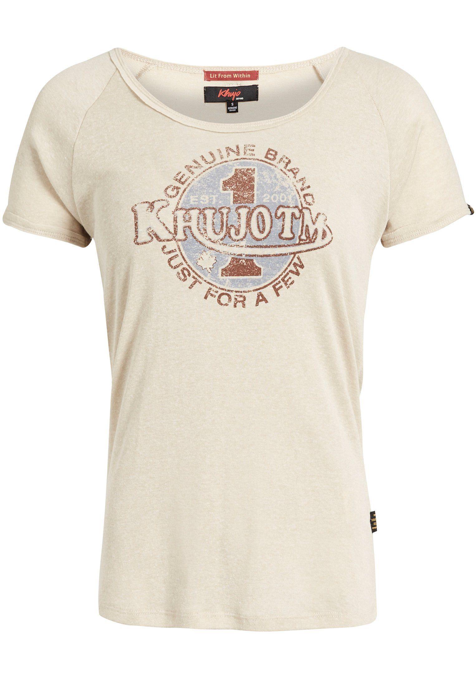 khujo T Shirt »CYAN RACER« mit Print online kaufen   OTTO