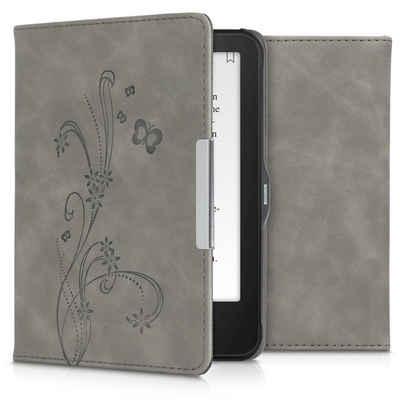 kwmobile E-Reader-Hülle, Hülle für Tolino Vision 1 / 2 / 3 / 4 HD - Kunstleder eReader Schutzhülle Cover Case - - Ranken Schmetterling Design