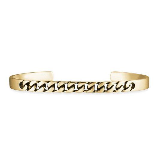 CAÏ Armband »925/- Sterling Silber vergoldet mit schwarzer Farb«