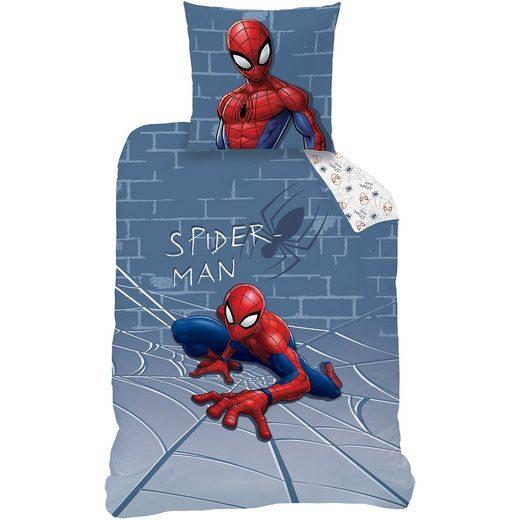 CTI Wende-Kinderbettwäsche Spiderman Incredible, blau, Renforcé