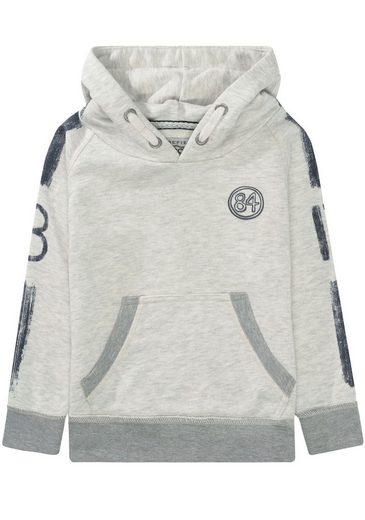 BASEFIELD Kapuzensweatshirt mit Drucken auf den Ärmeln und vorn