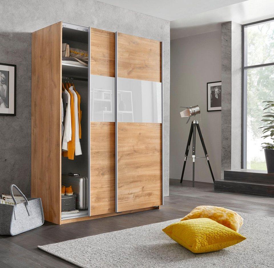 Wimex Schwebetürenschrank »Bramfeld« mit Glaselementen und zusätzlichen  Einlegeböden online kaufen | OTTO