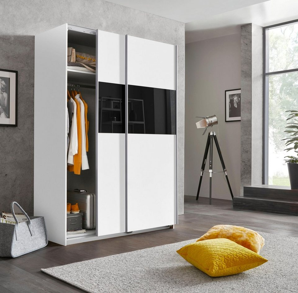 Wimex Schwebetürenschrank »Bramfeld« mit Glaselementen und zusätzlichen  Einlegeböden online kaufen   OTTO