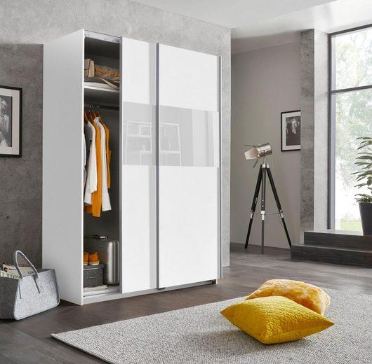 Wimex Schwebetürenschrank »Bramfeld« mit Glaselementen und zusätzlichen Einlegeböden