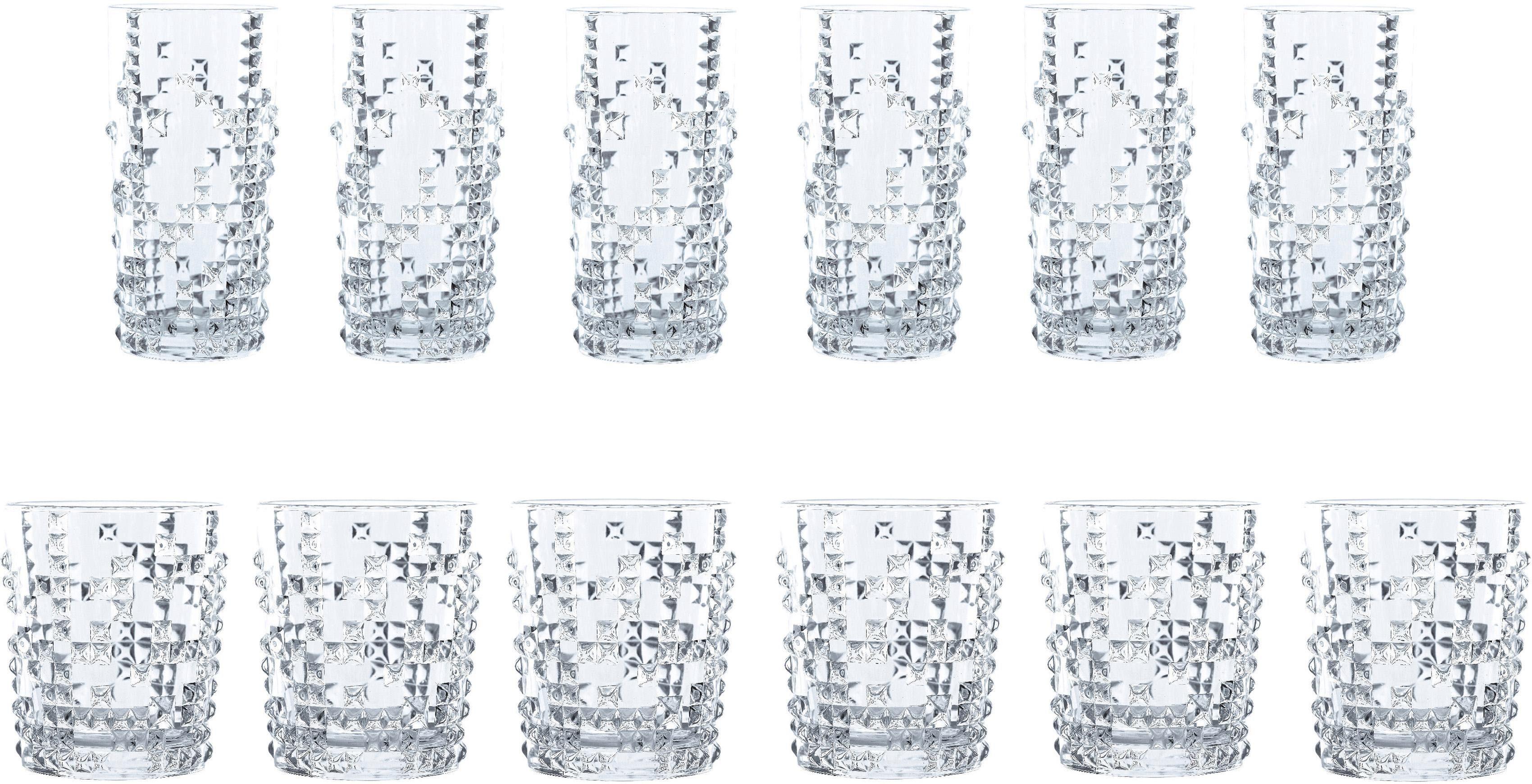 Nachtmann Gläser-Set »Punk« (12-tlg), Kristallglas