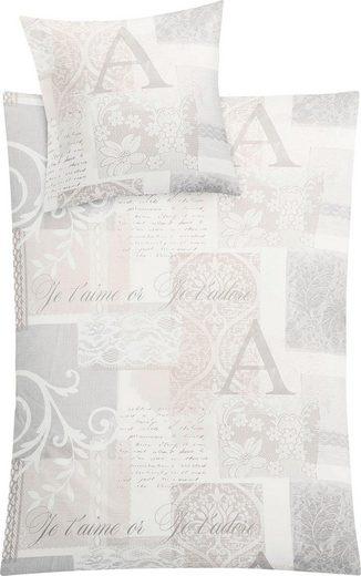 Bettwäsche »Viktoria«, Kleine Wolke, mit Schriftelementen