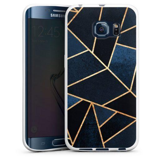 DeinDesign Handyhülle »Navy Stone Gold Print« Samsung Galaxy S6 Edge, Hülle Elisabeth Fredriksson Dreiecke Abstrakt