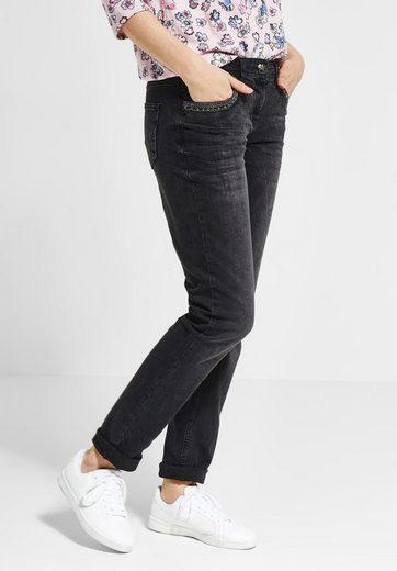 Cecil Loose-fit-Jeans mit Nieten und Pailletten