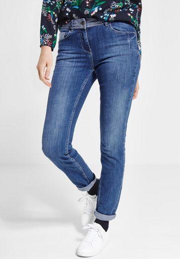 Cecil Slim-fit-Jeans mit Crash-Effekt