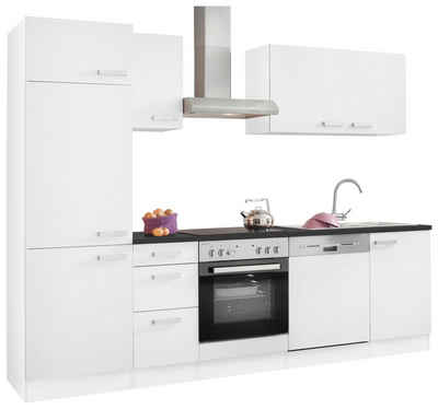 OPTIFIT Küchenzeile »Odense«, ohne E-Geräte, Breite 270 cm, mit 28 mm starker Arbeitsplatte, mit Gratis Besteckeinsatz
