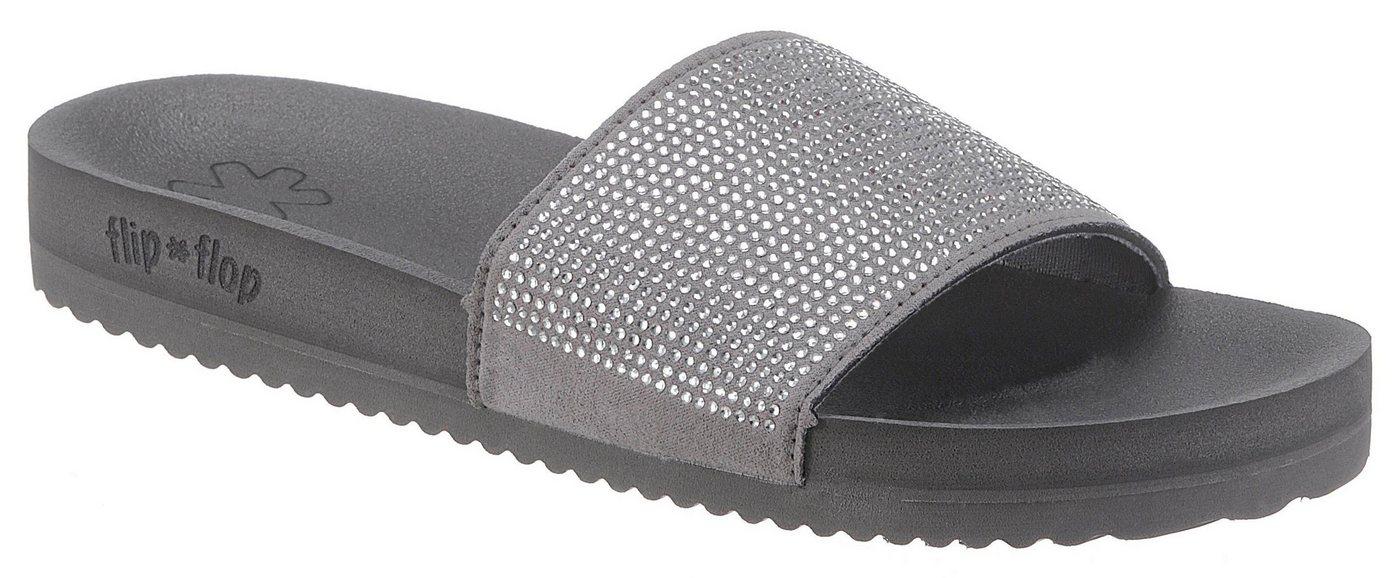 Flip Flop »Pool Glam« Pantolette mit breiter Bandage | Schuhe > Clogs & Pantoletten > Pantoletten | Grau | Flip Flop