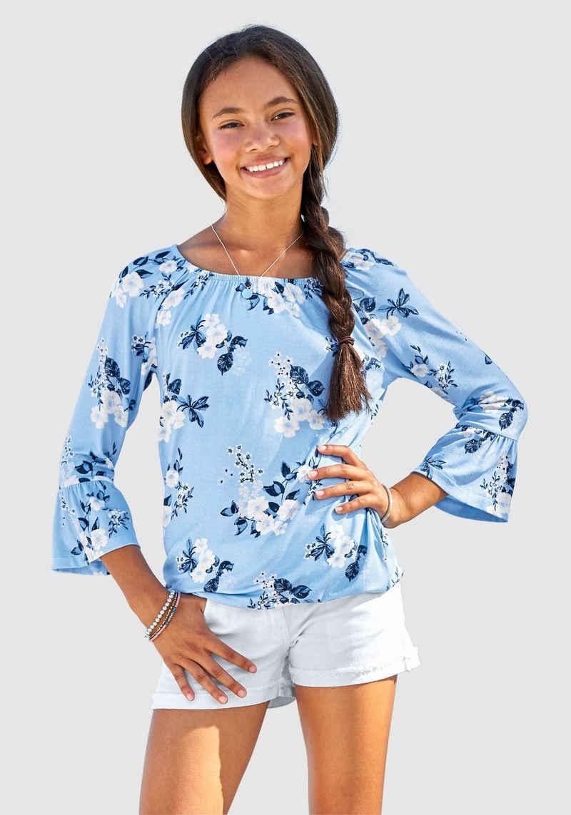 Arizona 3/4-Arm-Shirt mit hübschem Blumendruck