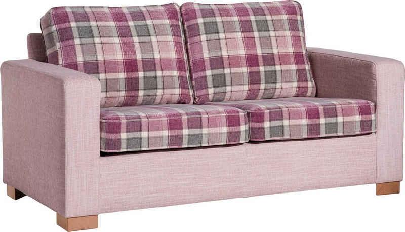 Max Winzer® 2-Sitzer »Nelly«, mit Kederverzierung und Kissen im Karostoff, Breite 165 cm