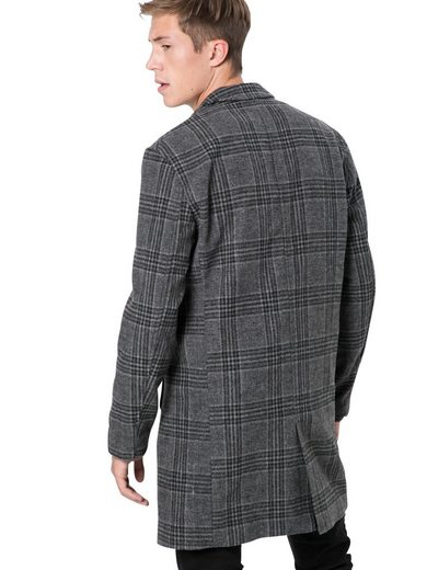 »wool »wool Check« Optic Wollmantel Optic Review Wollmantel Review TxBwdd