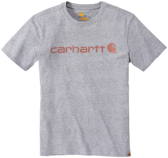 Damen CARHARTT T-Shirt »LOGO GRAPHIC S/S«, HEATHER GREY