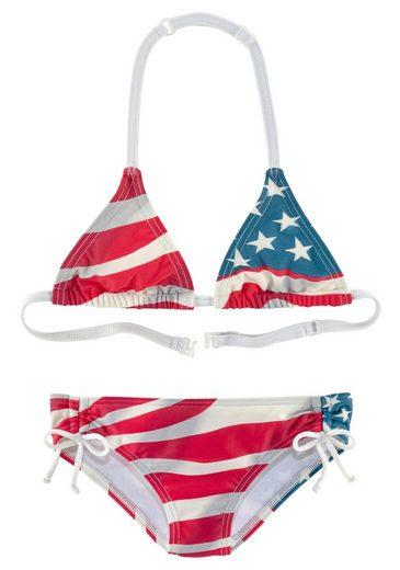 Homeboy Triangel-Bikini im Design der USA-Flagge