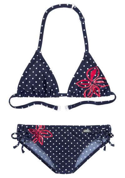Venice Beach Triangel-Bikini im modischen Punkte-Design