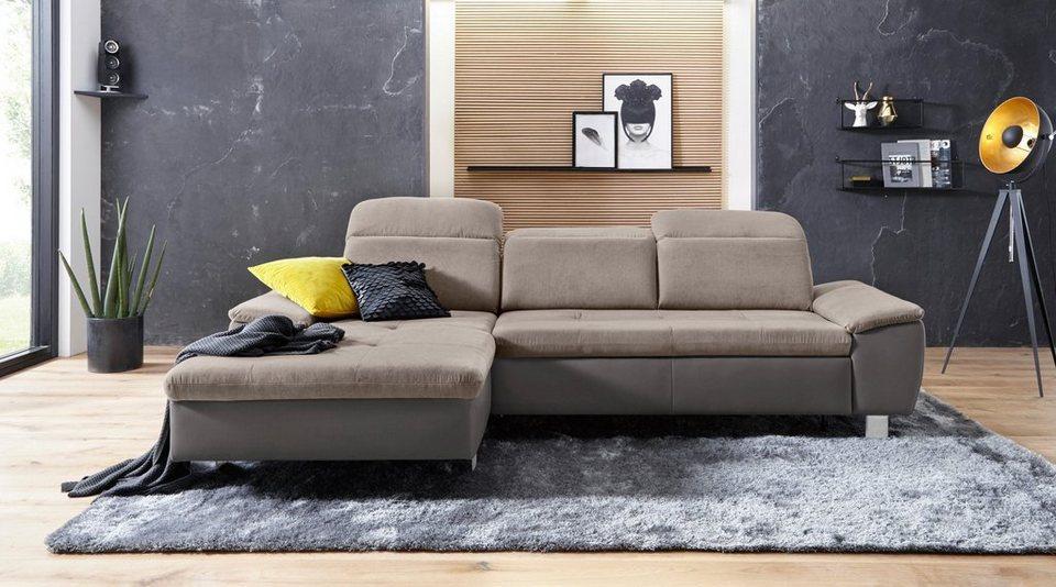 Sofa Fashion Ecksofa, Mit Bettfunktion, Inklusive