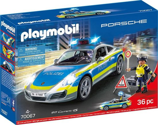 Playmobil® Konstruktions-Spielset »Porsche 911 Carrera 4S Polizei (70067), City Action«, Made in Germany