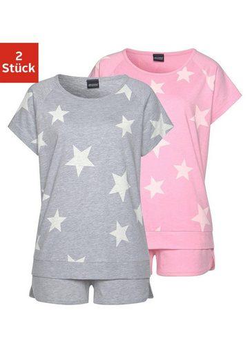 Sterne Grau Arizona StückIn Melierter Shorties2 rosa Optik lFJuT3K1c