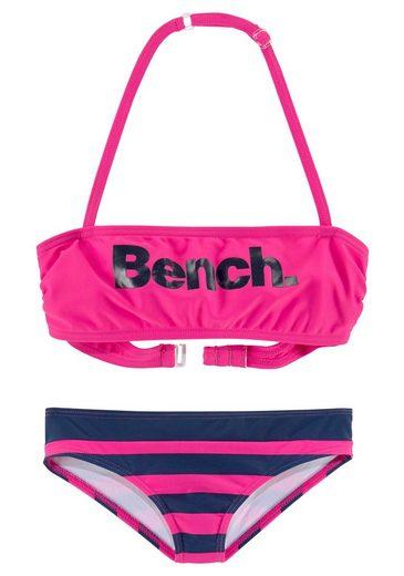 Bench. Bandeau-Bikini mit großem Logoprint