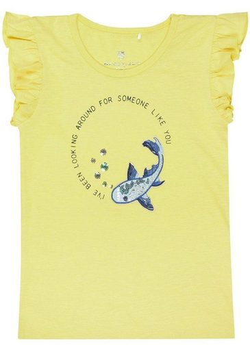 BASEFIELD T-Shirt mit niedlichem Wal-Motiv