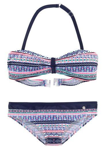 s.Oliver Beachwear Bandeau-Bikini im frechen Streifen-Look
