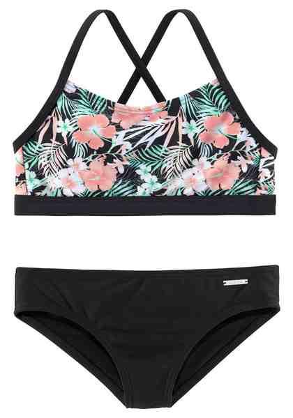 Chiemsee Bustier-Bikini im tropischen Print
