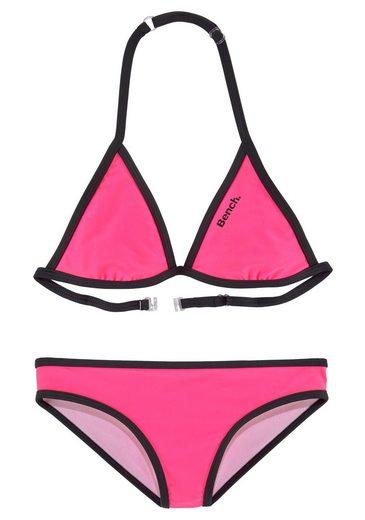 Bench. Triangel-Bikini mit Logoprint an Top und Hose